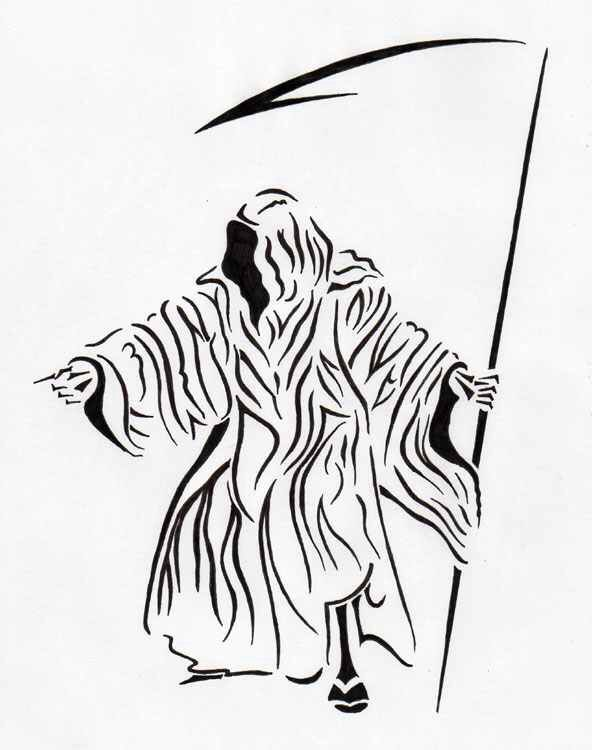 Drawn grim reaper tribal Pinterest images Reaper best Reaper