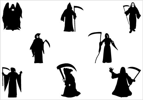 Reaper clipart silhouette Halloween Silhouette Vector Vectors Halloween