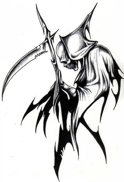Reaper clipart tribal Wicked Tattoo  Grim Reaper