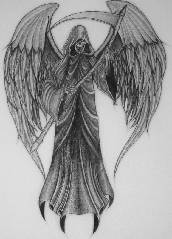Drawn grim reaper wing sketch Imgarcade Drawings Wings Reaper Wings