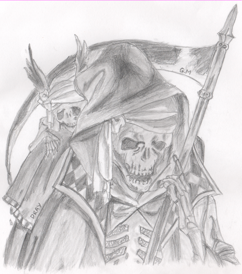 Drawn grim reaper wing sketch Grim by Grim DeviantArt by