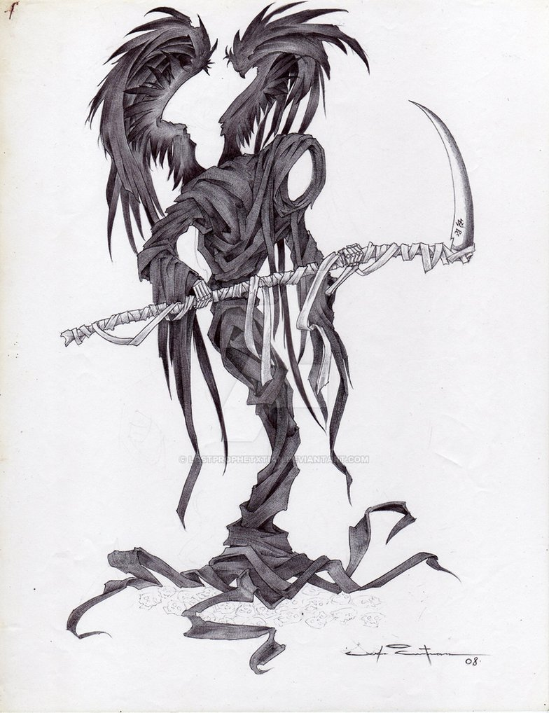 Drawn grim reaper wing sketch Wings Wings Grim Of Gallery