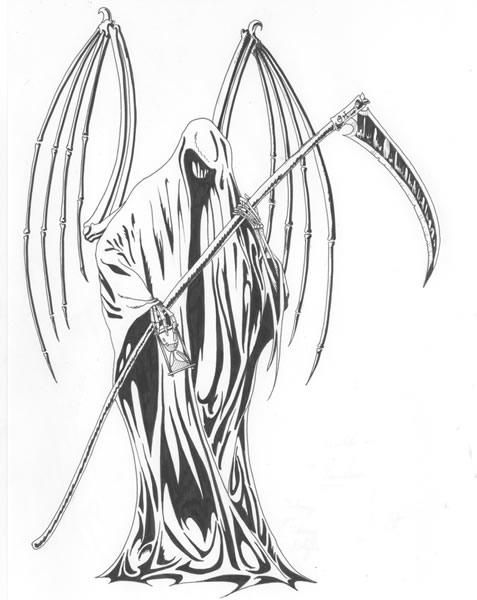 Drawn grim reaper wing sketch & drawings Drawings Reaper on