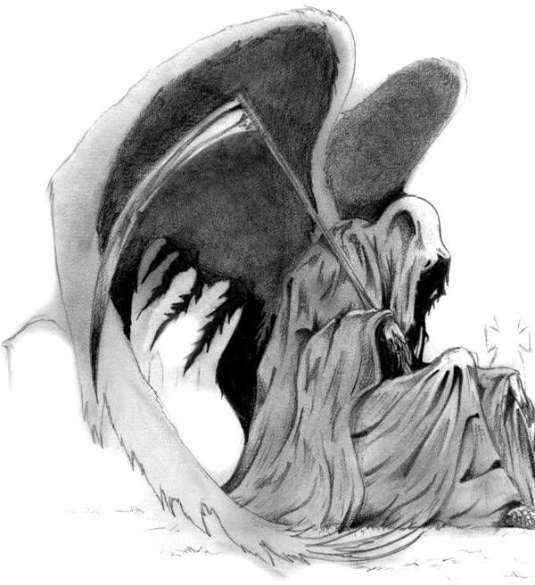 Drawn grim reaper wing sketch Wings with Grim Grim wings