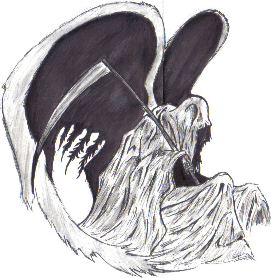 Drawn grim reaper wing sketch By sweetnshykitten Reaper on Grim