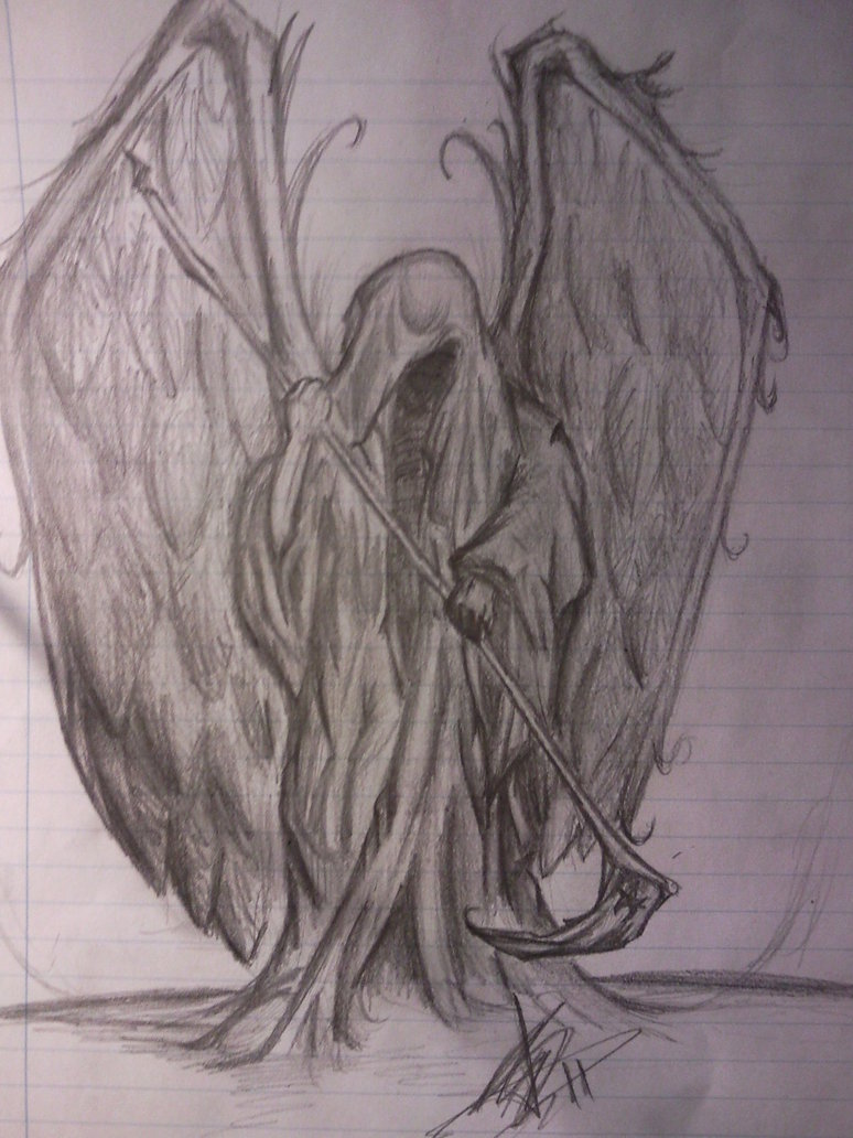 Drawn grim reaper wing sketch Grim by Grim by FallenPDW