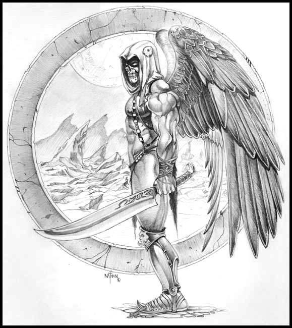 Drawn grim reaper wing sketch Rosario Artist By  Reaper