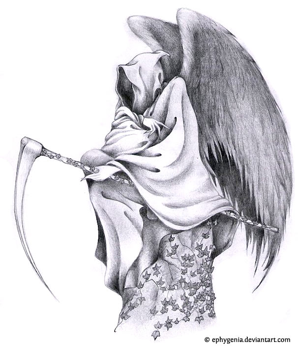 Drawn grim reaper wing sketch Wings Grim I design the