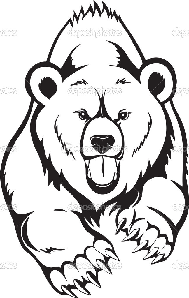 Grizzly Bear clipart drawn #6