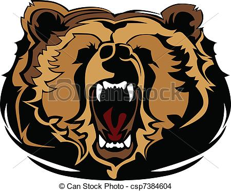 Grizzly Bear clipart drawn #2
