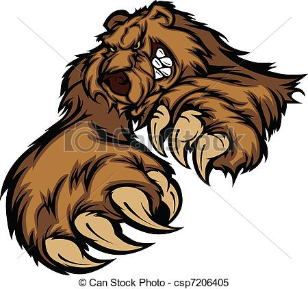 Grizzly Bear clipart drawn #4