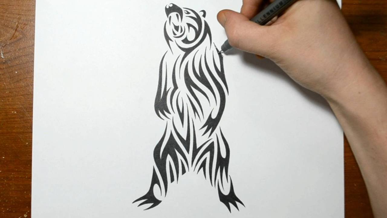 Drawn grizzly bear awesome Grizzly YouTube a Bear Design