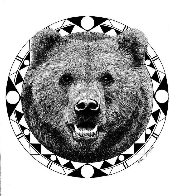 Drawn grizzly bear bear head Ideas tattoos Best / Rick