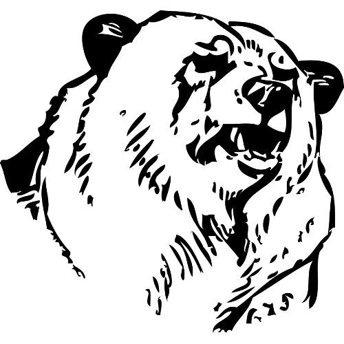 Drawn grizzly bear bear head Clip Bear Download Art Cliparts