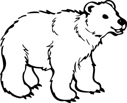 Furry clipart polar bear Grizzly  White Cartoon And