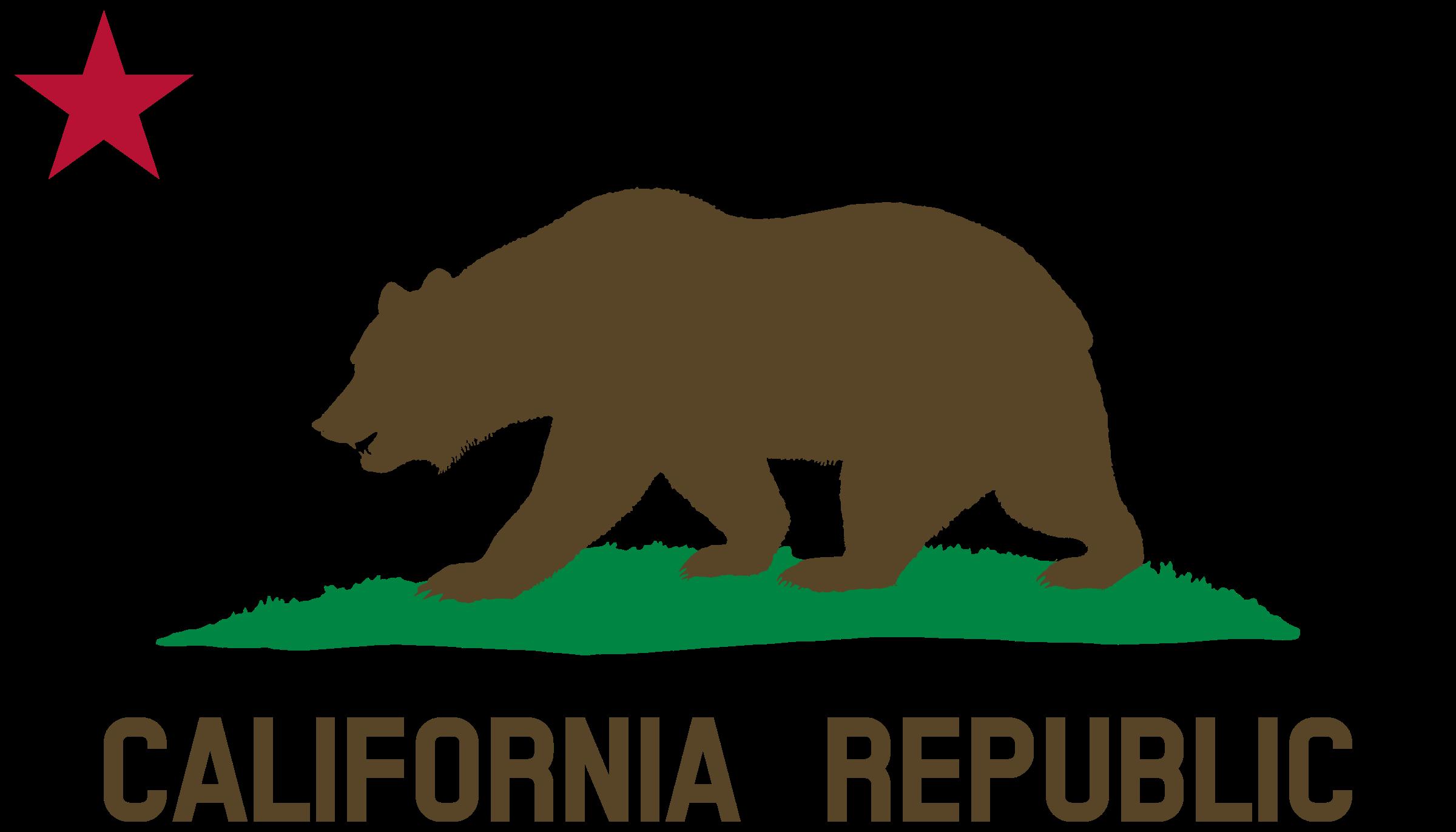 Grizzly Bear clipart california bear Of Plot California Solid) Flag