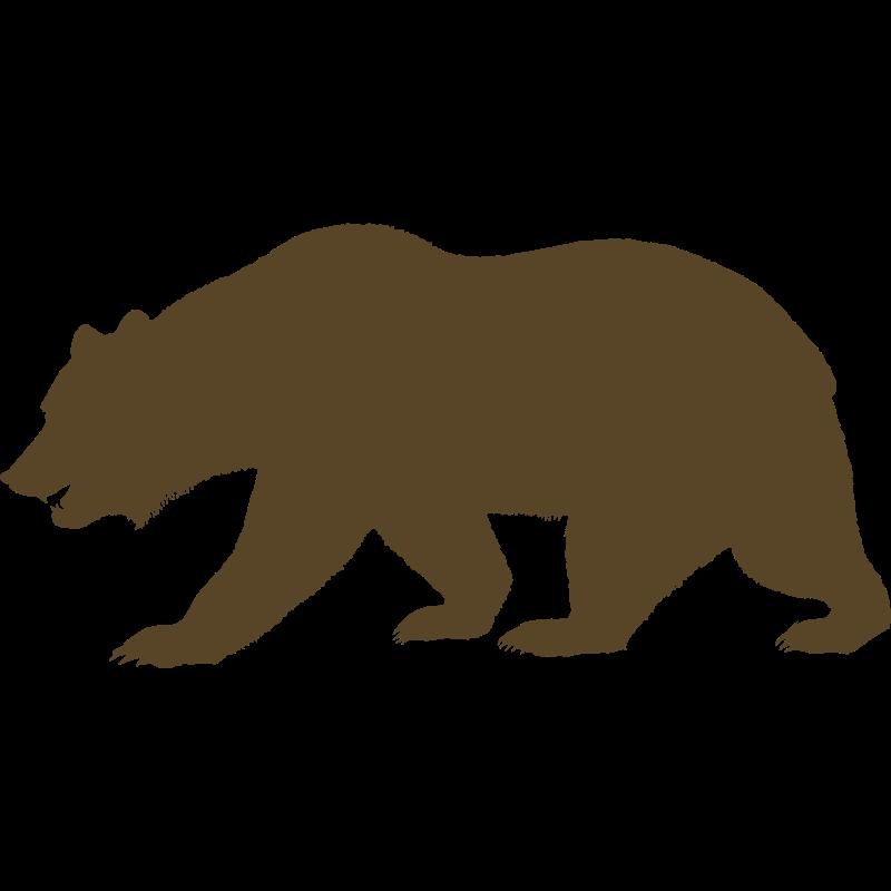 Grizzly Bear clipart california bear Print california outline outline Bear