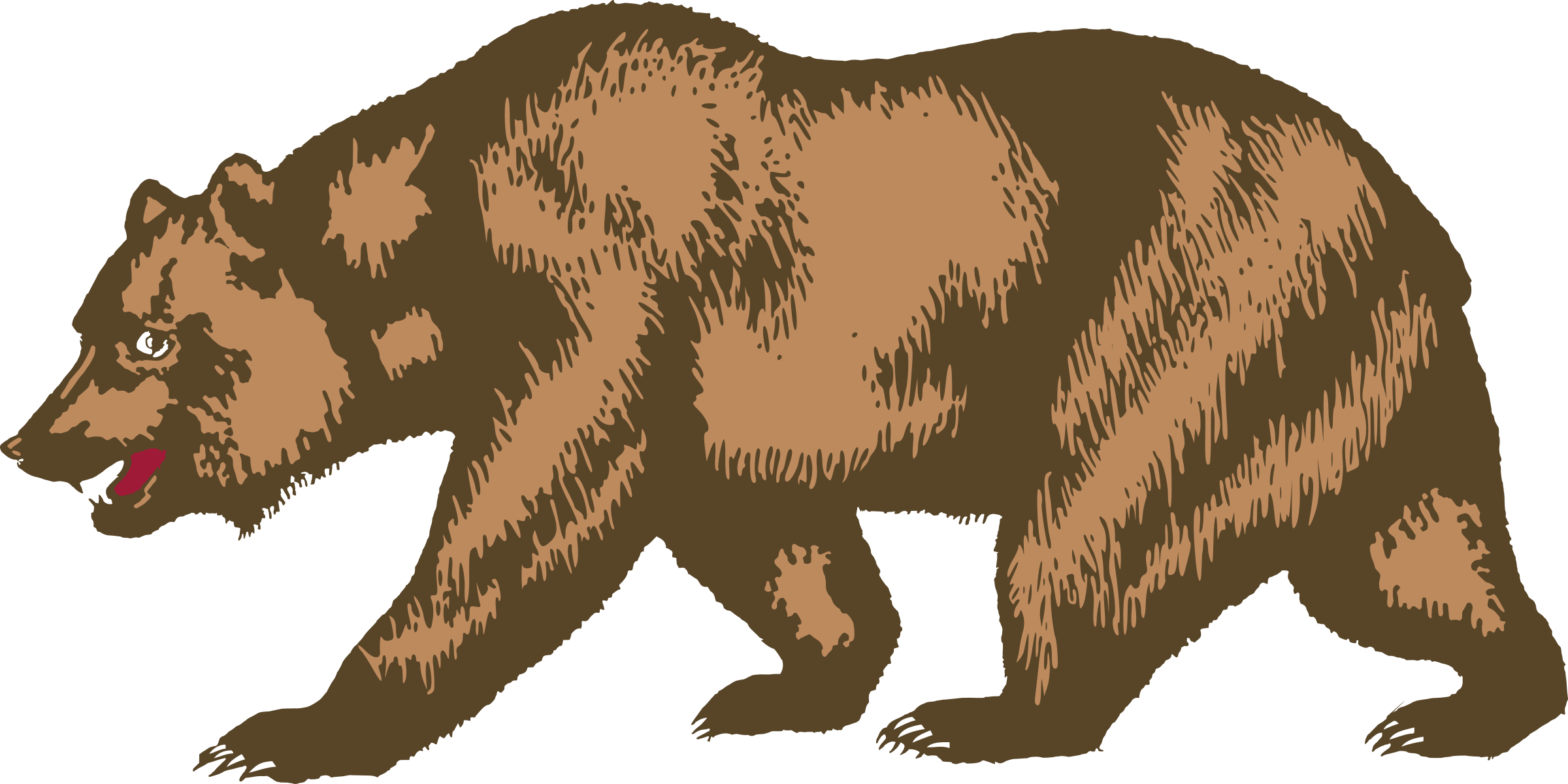 Brown Bear clipart angry California Bear Flag of Clipart