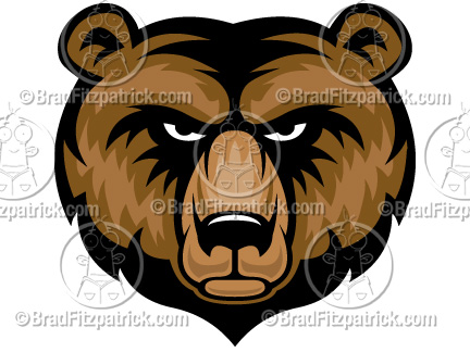 Grizzly Bear clipart drawn #5