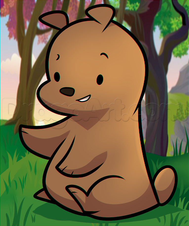 Drawn grizzly bear chibi Draw Chibi Step How Anime