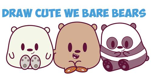 Drawn grizzly bear chibi / Chibi / Easy /