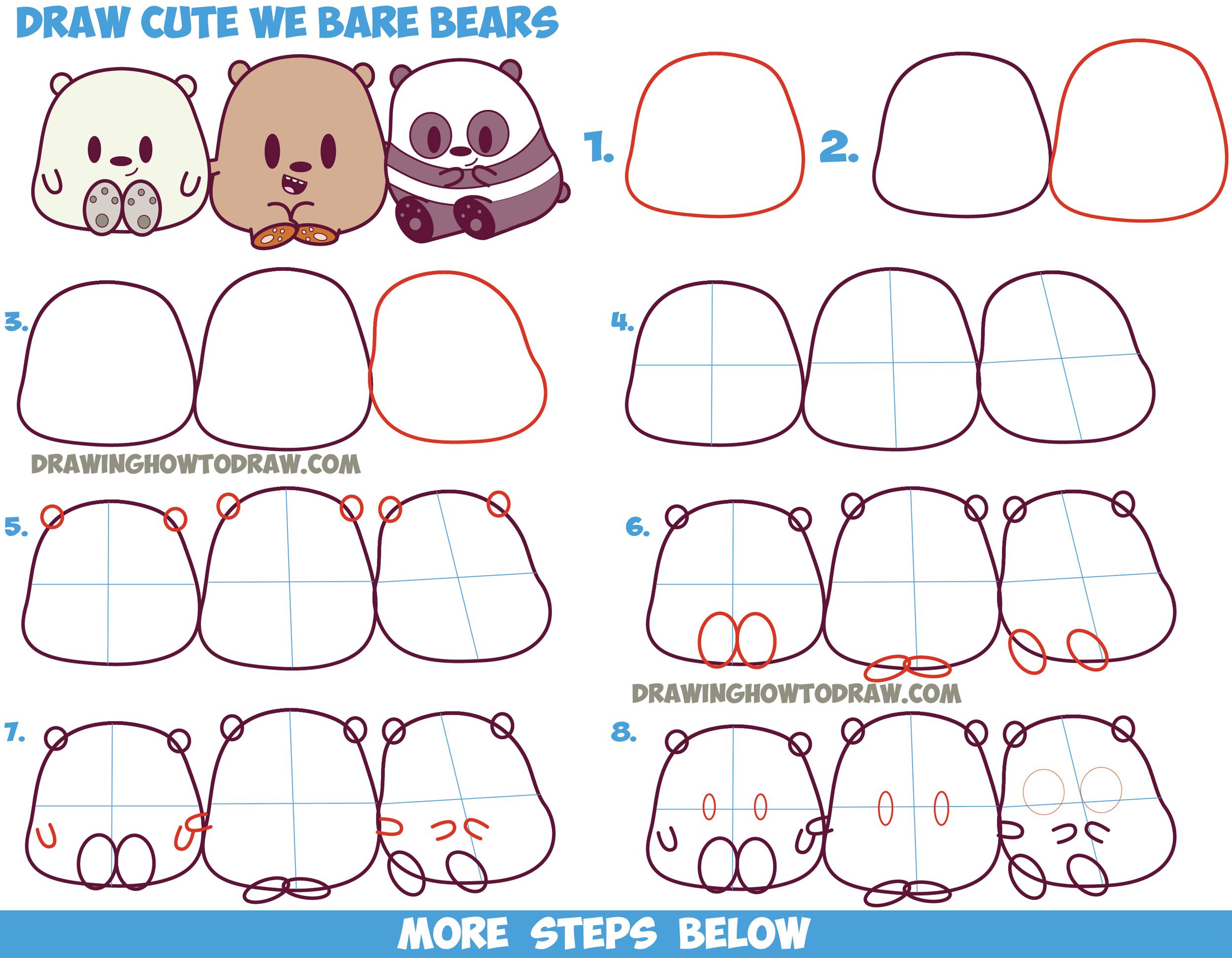 Drawn grizzly bear chibi / (Cute / / Kawaii