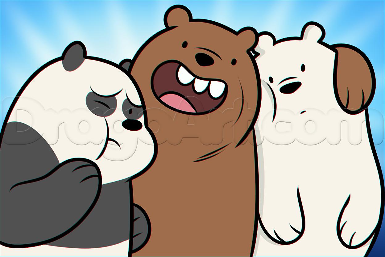 Drawn polar  bear dragoart We Bears by Step Step