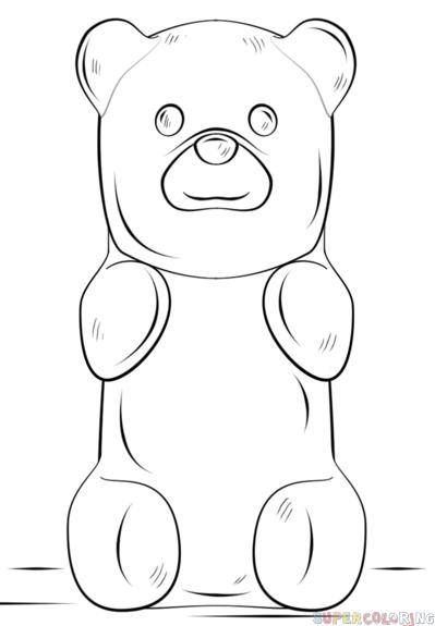 Gummy Bear clipart teddy bear outline To a tutorials draw to