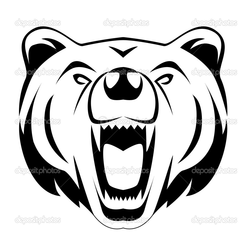 Grizzly Bear clipart outline #10