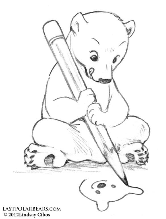 Drawn polar  bear chibi The drawing Bears of –