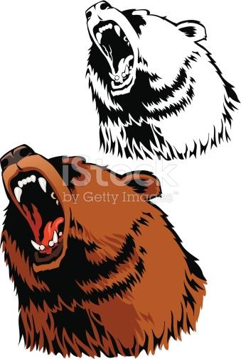 Drawn grizzly bear roar Roar Find Drawing Picture Bear