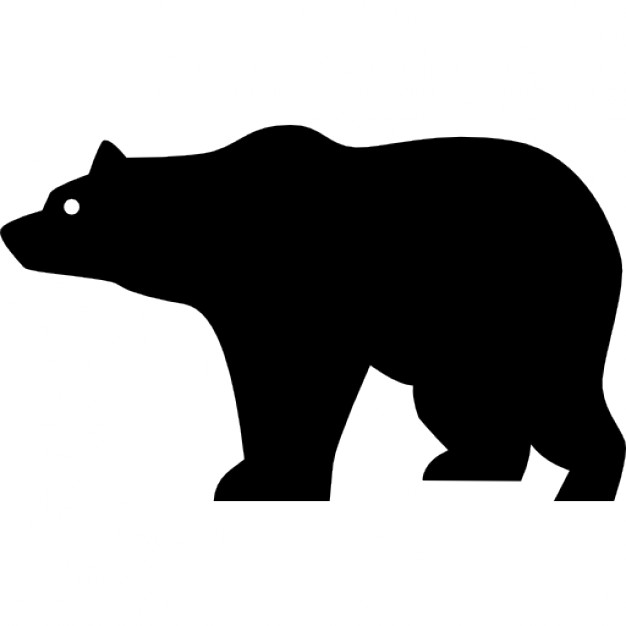 Drawn polar  bear side view Bear Bear Icon silhouette Download