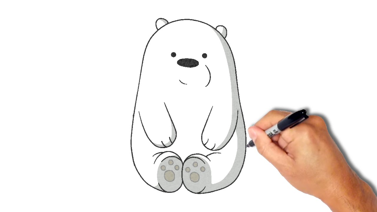 Drawn polar  bear ice drawing Draw and YouTube minute] How
