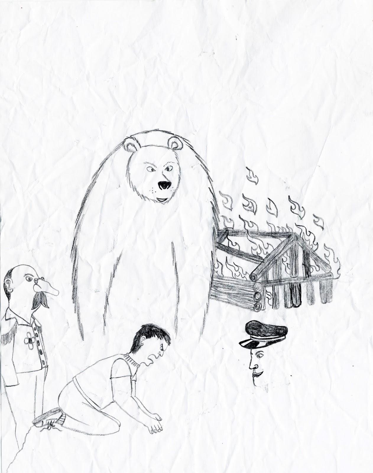 Drawn grizzly bear touching spirit bear Bear images Spirit Bear Spirit