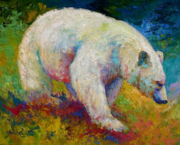 Drawn grizzly bear touching spirit bear By Prezi  by Haylie