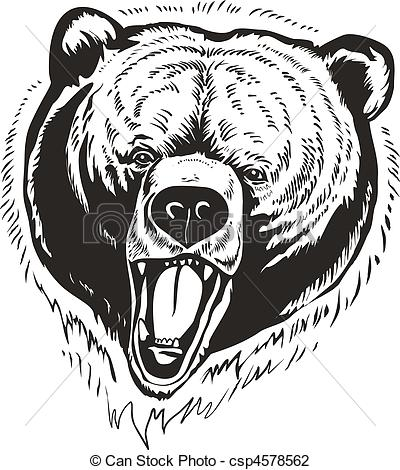 Drawn grizzly bear vector Brown 70 Illustrations royalty bear