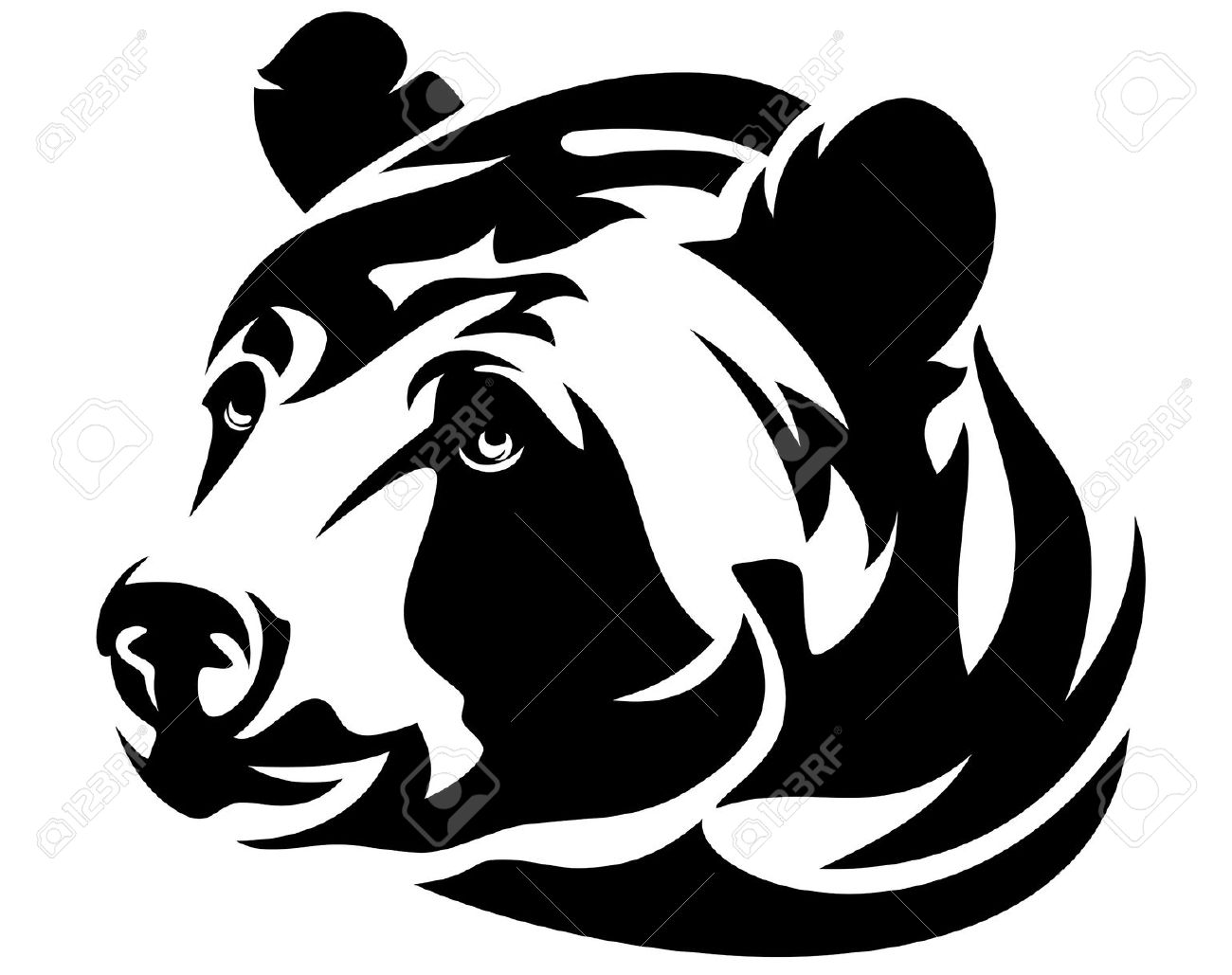 Drawn grizzly bear vector Tattoo tattoos me Bear