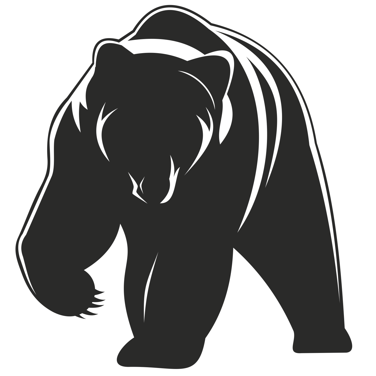 Drawn grizzly bear vector > Vector Standing Bear bears