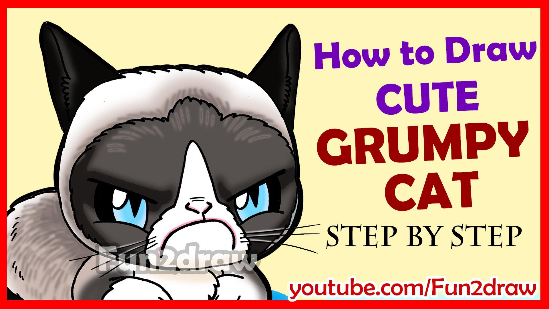 Drawn grumpy cat Cat Cute Grumpy to