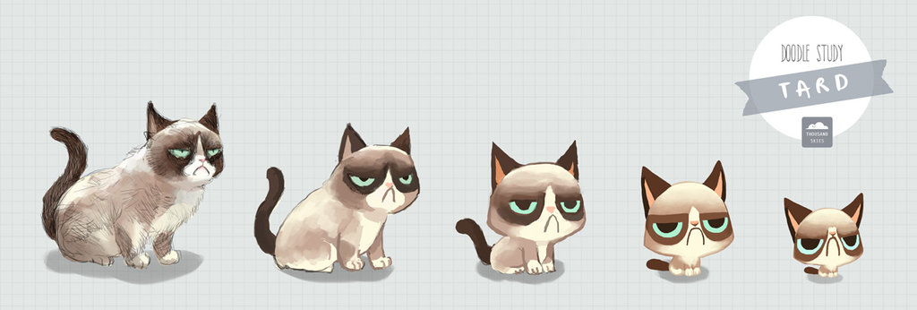Drawn grumpy cat Tard the ethe Grumpy DeviantArt