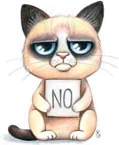 Drawn grumpy cat Coloring page cat Art that