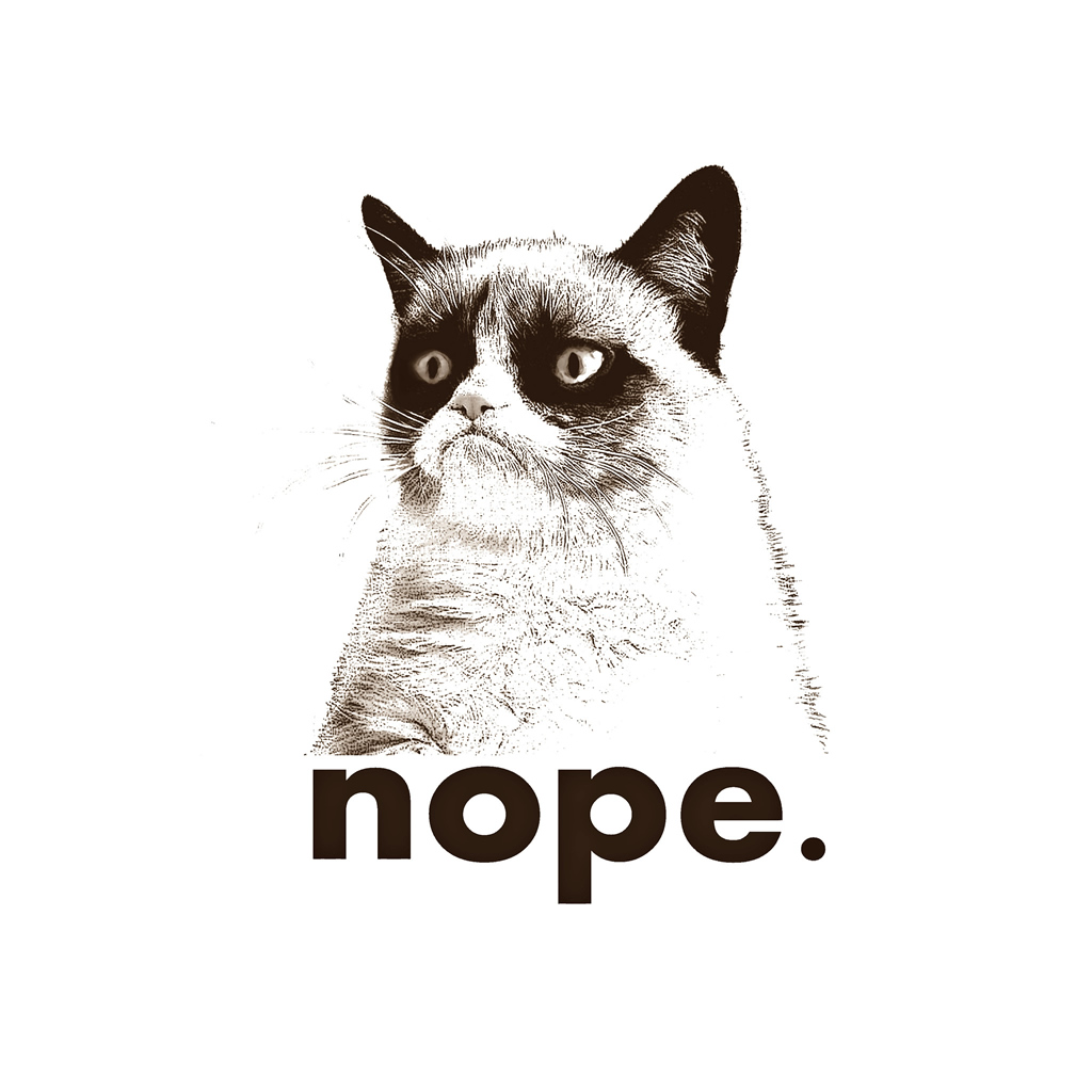 Drawn grumpy cat #wallpaper Nope #iPad Cat