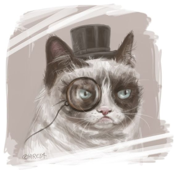 Drawn grumpy cat digital #art #digital #grumpy Meine Lieblingskatze