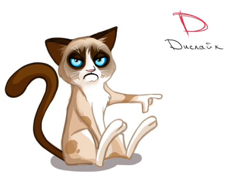 Drawn grumpy cat digital Like the ~walterka Grumpy cat