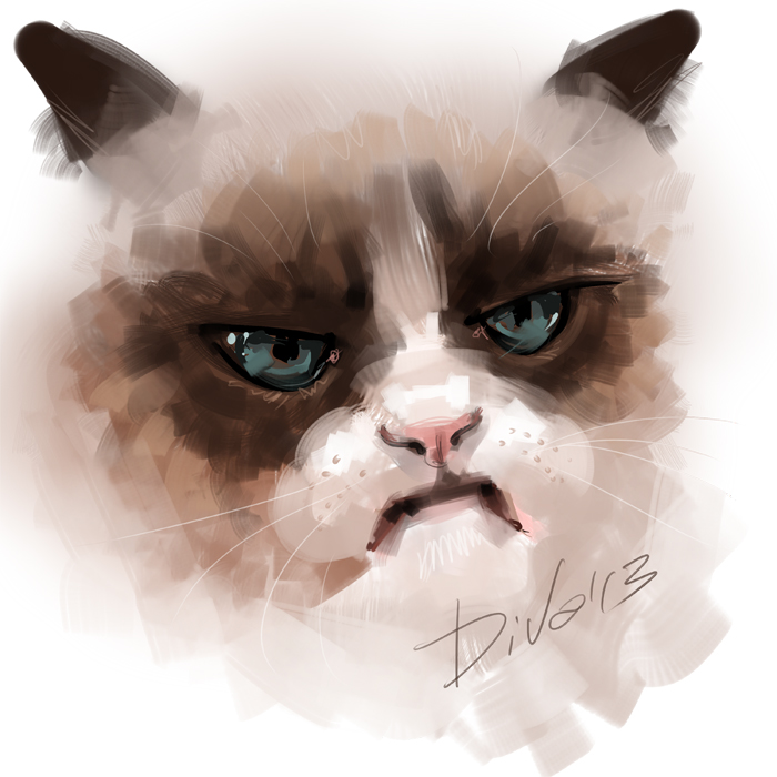 Drawn grumpy cat digital Cat by CurlyJul Grumpy Cat