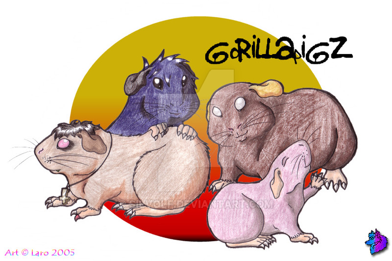 Drawn guinea pig anthro Silvolf by The Gorillaz as