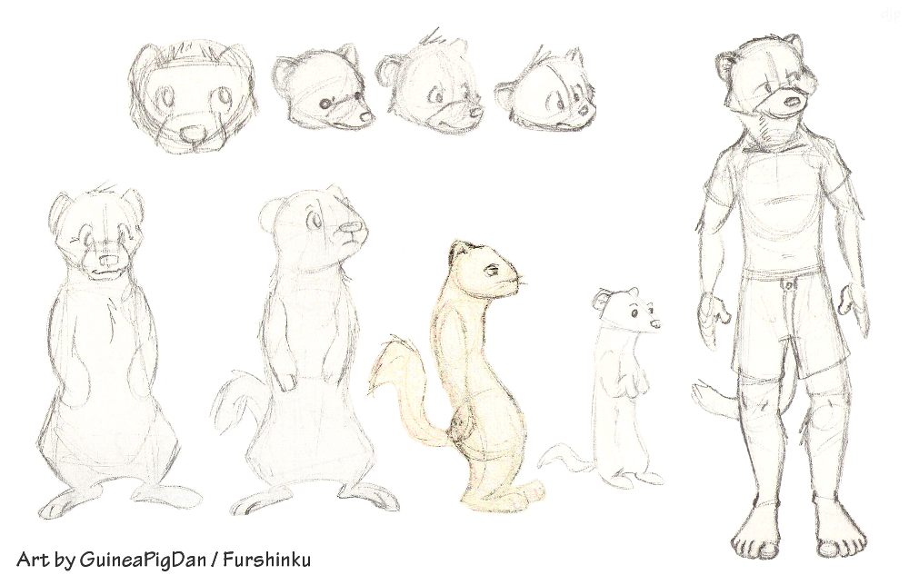 Drawn guinea pig anthro Weasyl Stoat doodles Stoat —
