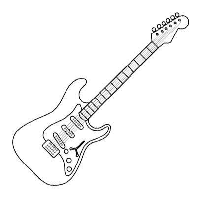 Drawn guitar Pin best about guitars this