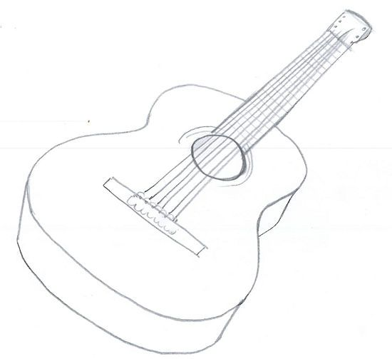 Drawn instrument violin An Acoustic ideas Guitar on