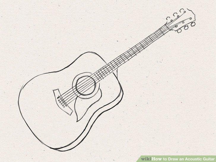 Drawn guitar Draw wikiHow to an Guitar: